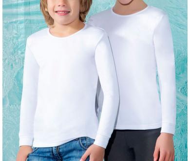 Camiseta interior para ni o a de manga larga t rmica con for Camiseta termica interior