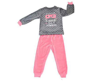 "Pijama tundosado infantil ""Heart"".... - Noumega"
