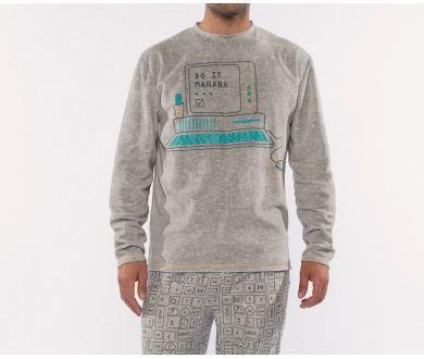 Pijama micropolar hombre. Muydemi - Noumega