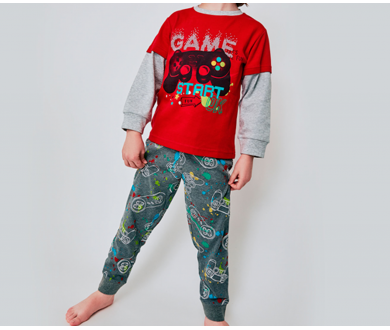 """Pijama infantil interlock """"Game... - Noumega"""